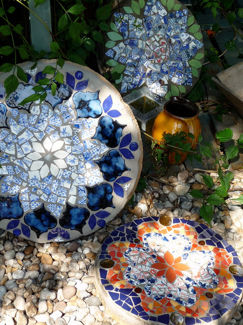 To Tame Me Mosaic stepping stones