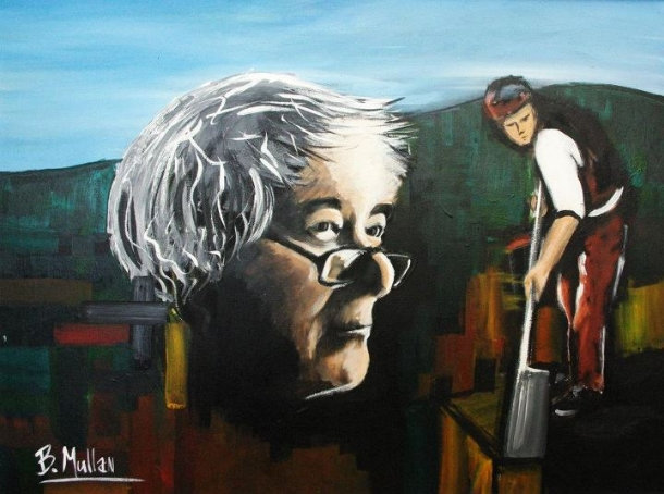 digging seamus heaney Docker by seamus heaney there in the corner staring at his drink the cap juts like a gantrys crossbeam cowling plated forehead and sledgehead jaw speech is clamped in the page.